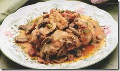 Pollo con Chícharos (guisantes). Receta
