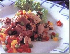 Ensalada de atún con pimientos. Receta | cocinamuyfacil.com