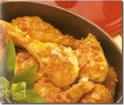 Pollo con Costra de Almendras. Receta | cocinamuyfacil.com