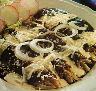 Enmoladas (Chicken Mole Enchiladas) Recipes — Dishmaps