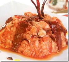 Bacalao con Almendras y Rajas. Receta de Navidad | cocinamuyfacil.com