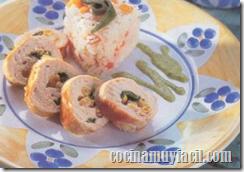Comida Mexicana: Pechugas de Pollo rellenas de Elote y Chile Poblano
