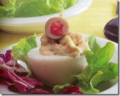 huevos rellenos de atún. Receta
