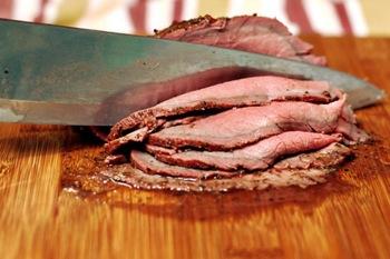 Como cortar correctamente la carne - cortar contra la veta