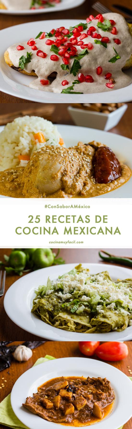 25 recetas de cocina mexicana | cocinamuyfacil.com