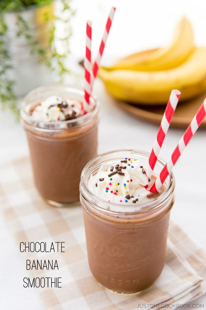 Chocolate Banana Smoothie from Just one Cookbook