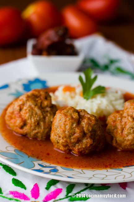 Albóndigas al chipotle | cocinamuyfacil.com