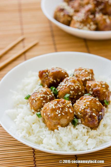 Albóndigas teriyaki. Receta | cocinamuyfacil.com