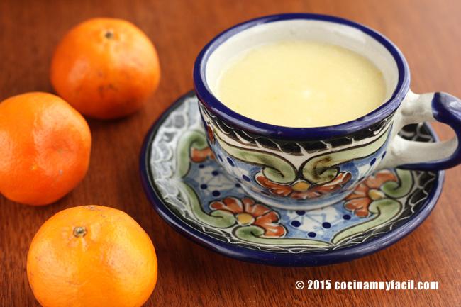 Atole de mandarina. Receta   cocinamuyfacil.com