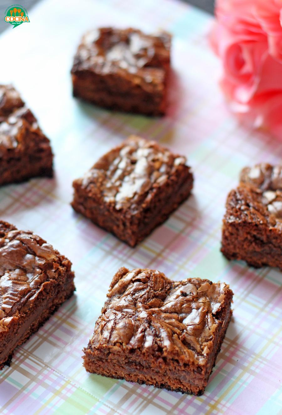 Brownies de Nutella. Receta para San Valentín | cocinamuyfacil.com