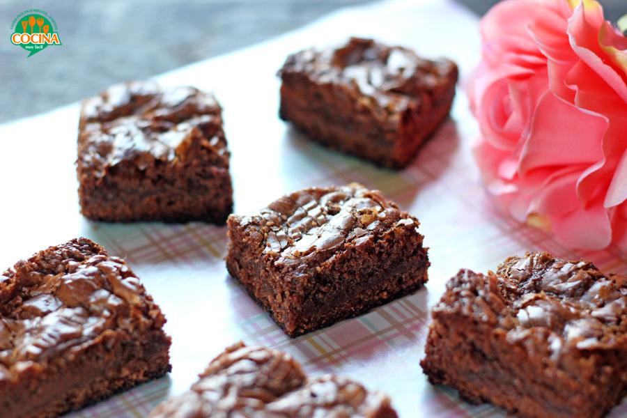 Brownies de Nutella. Receta para San Valentín   cocinamuyfacil.com