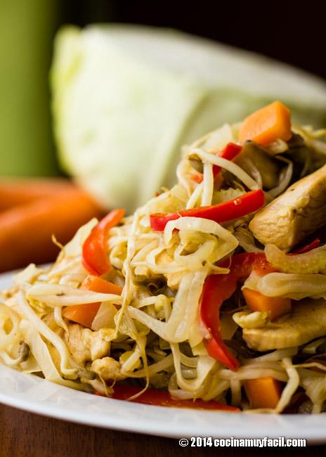 Chicken stir fry (chop suey). Recipe | cocinamuyfacil.com