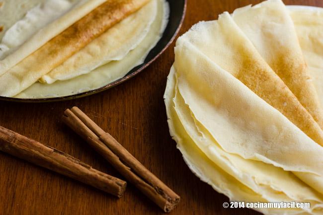 How to make crêpes. Recipe | cocinamuyfacil.com/en/