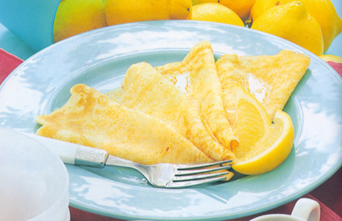 Crepes de limn. Receta