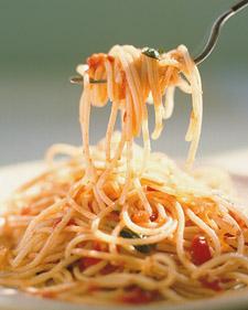 Espagueti con Salsa de Tomate. Receta de Pasta