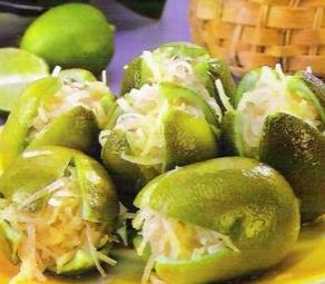 Limones rellenos de coco receta
