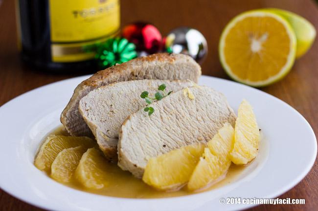 Lomo de Cerdo a la Naranja. Receta para Navidad   cocinamuyfacil.com