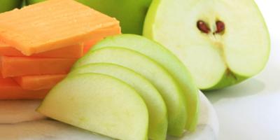 Bocadillo para el trabajo: Manzana con queso