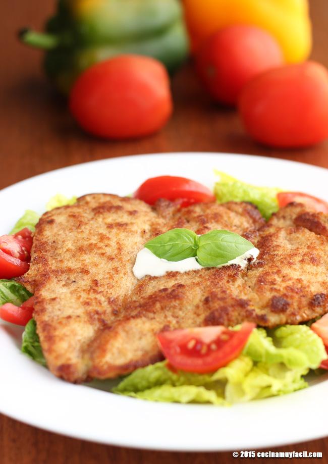Milanesa de res. Receta | cocinamuyfacil.com