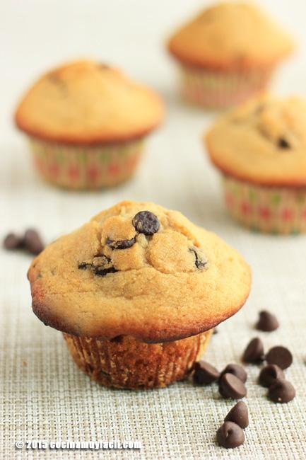 Muffins con chispas de chocolate. Receta | cocinamuyfacil.com
