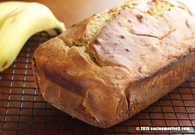 Panqué de plátano. Receta | cocinamuyfacil.com