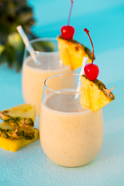 Pina Colada Oat Breakfast Smoothie from Cooking Classy