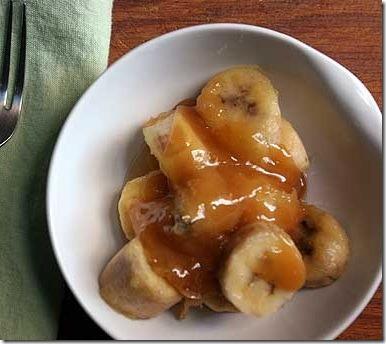 Plátanos Glaseados. Receta de Postre