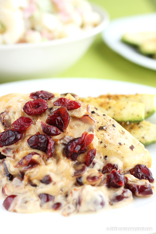 Pollo con arándanos. Receta de Navidad y Fin de Año | cocinamuyfacil.com