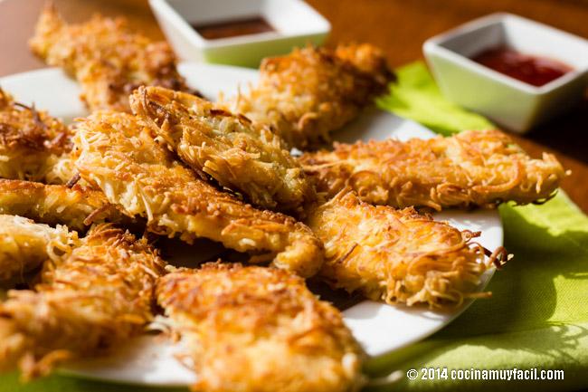 chicken coconut nuggets | cocinamuyfacil.com