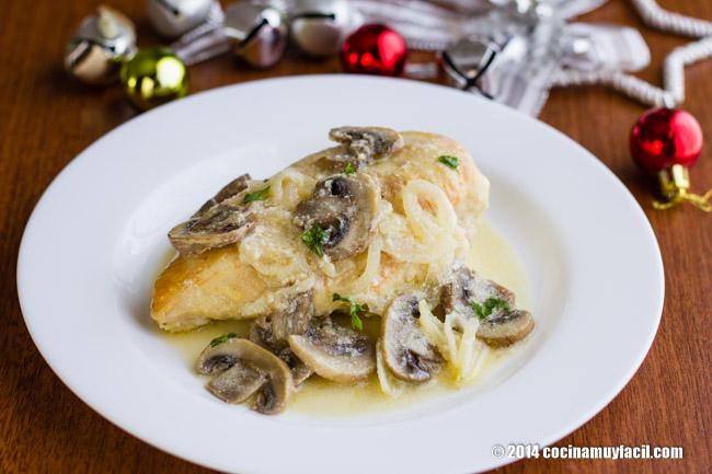 Pollo cremoso al limón. Receta de Navidad | cocinamuyfacil.com
