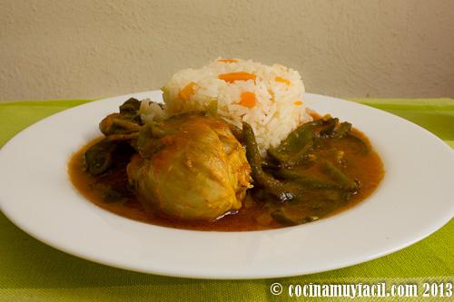 receta de pollo en caldillo de jitomate con rajas