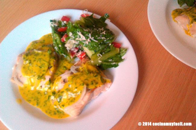 Salmon en salsa de mostaza. Receta de Cuaresma
