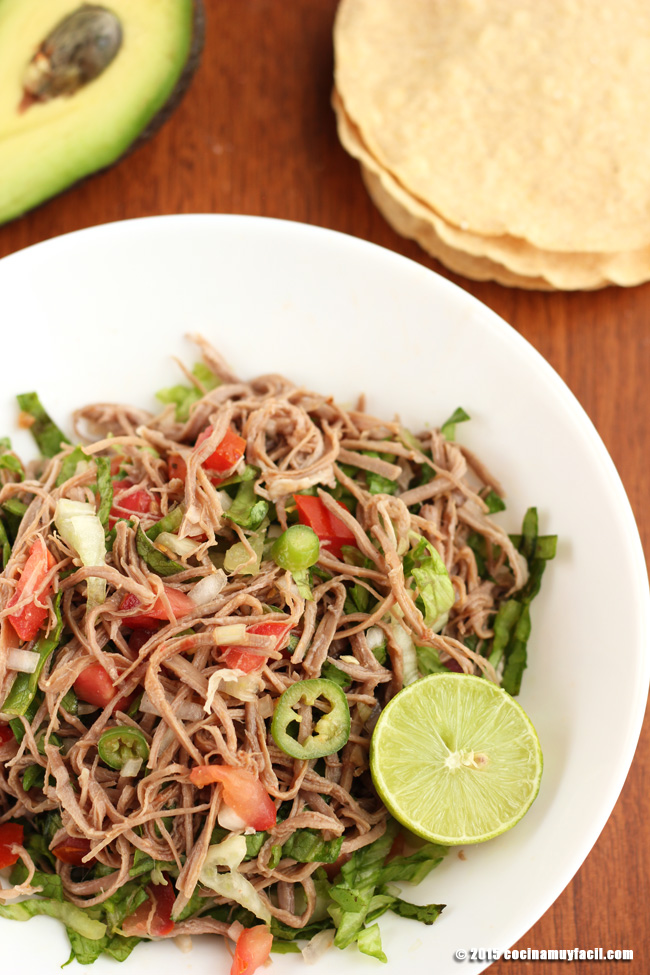 Salpicón de res. Receta | cocinamuyfacil.com