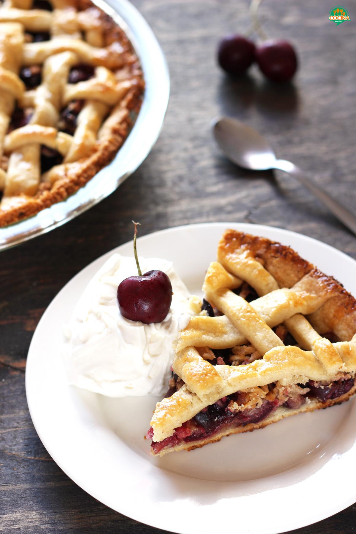 Tarta de cerezas o Cherry Pie. Receta   cocinamuyfacil.com