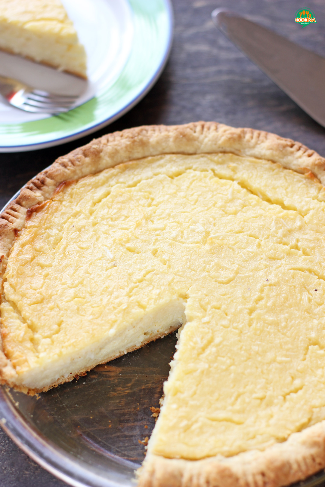 Tarta de coco o Pay de coco   cocinamuyfacil.com