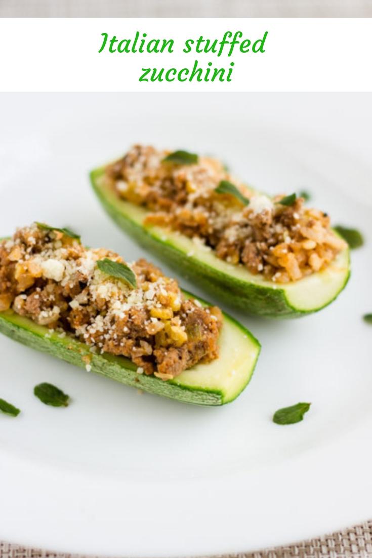 Italian stuffed zucchini. Recipe   cocinamuyfacil.com