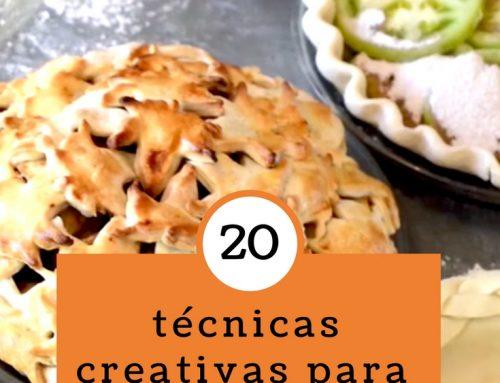 20 técnicas creativas para decorar una tarta