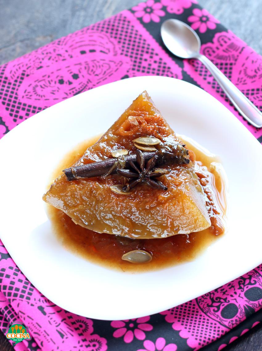 Calabaza en tacha o dulce de calabaza | cocinamuyfacil.com