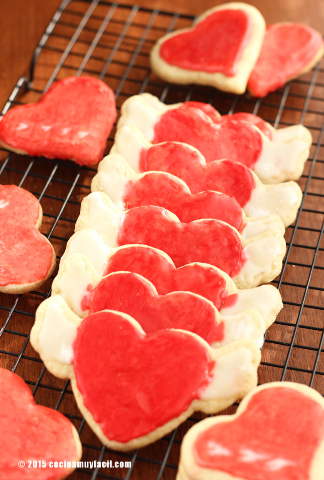 Galletas de azúcar para San Valentín | cocinamuyfacil.com