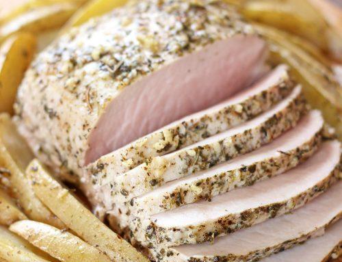 Lomo de cerdo a las finas hierbas. Receta para Navidad
