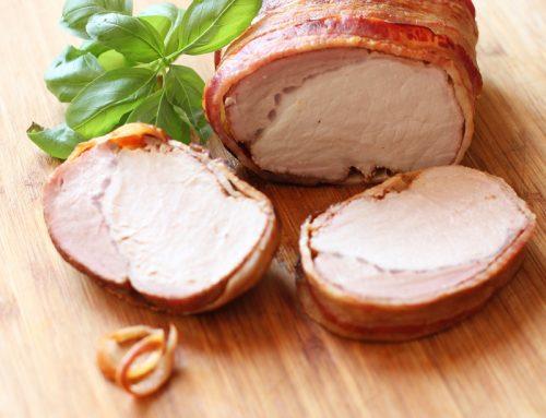 Lomo de cerdo con tocino y miel. Receta para Navidad