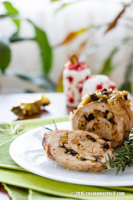 Lomo relleno de frutas secas. Receta de Navidad | cocinamuyfacil.com