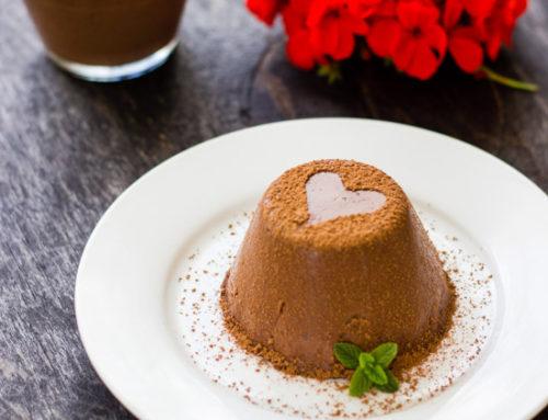 Panna cotta de chocolate. Receta de San Valentín