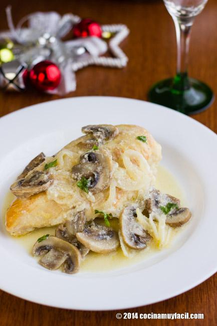 Pollo cremoso al limón. Receta de Navidad   cocinamuyfacil.com