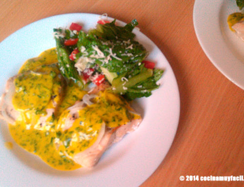 Salmón en salsa de mostaza y cilantro. Receta de Cuaresma