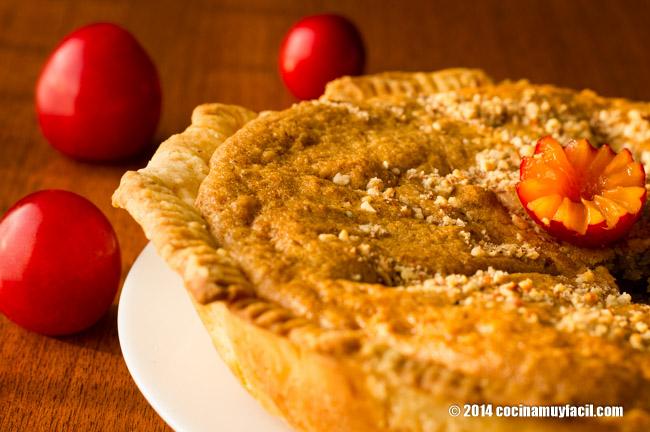 Plum almond tart. Recipe