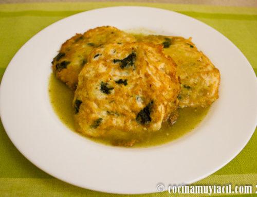 Tortitas de Pollo con Espinacas. Receta